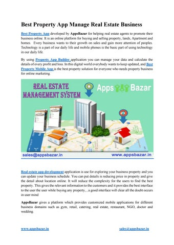 Best property app manage real estate business by Aparna Apps