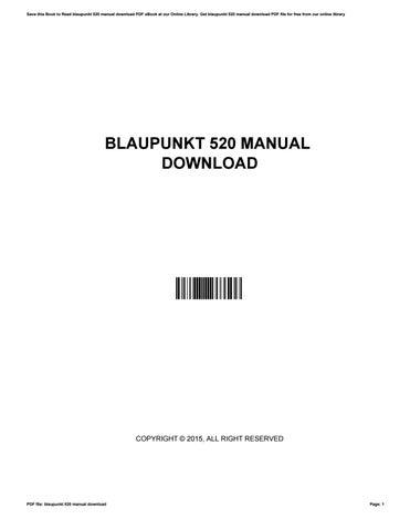 blaupunkt 520 manual download by cryp17 issuu rh issuu com
