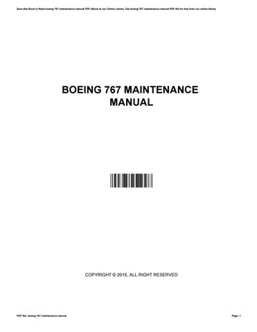 boeing 767 maintenance manual by crypemail010 issuu rh issuu com boeing 767 aircraft maintenance manual boeing 767 aircraft maintenance manual