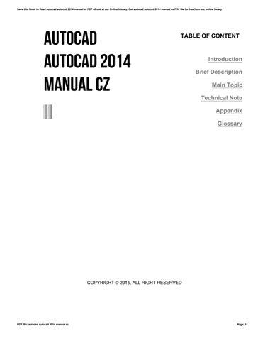 autocad autocad 2014 manual cz by reddit478 issuu rh issuu com AutoCAD 2016 Logo AutoCAD Training
