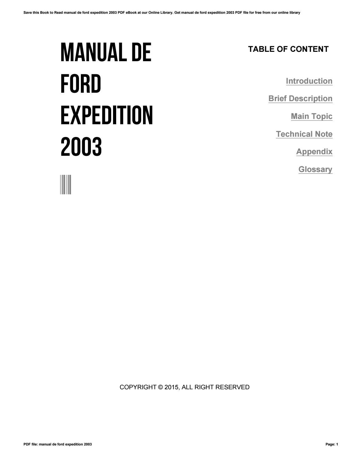 2003 Ford Expedition Manual Book Mountaineer And Explorer 4 Door Wiring Diagram Original De I Issuu 1156x1496