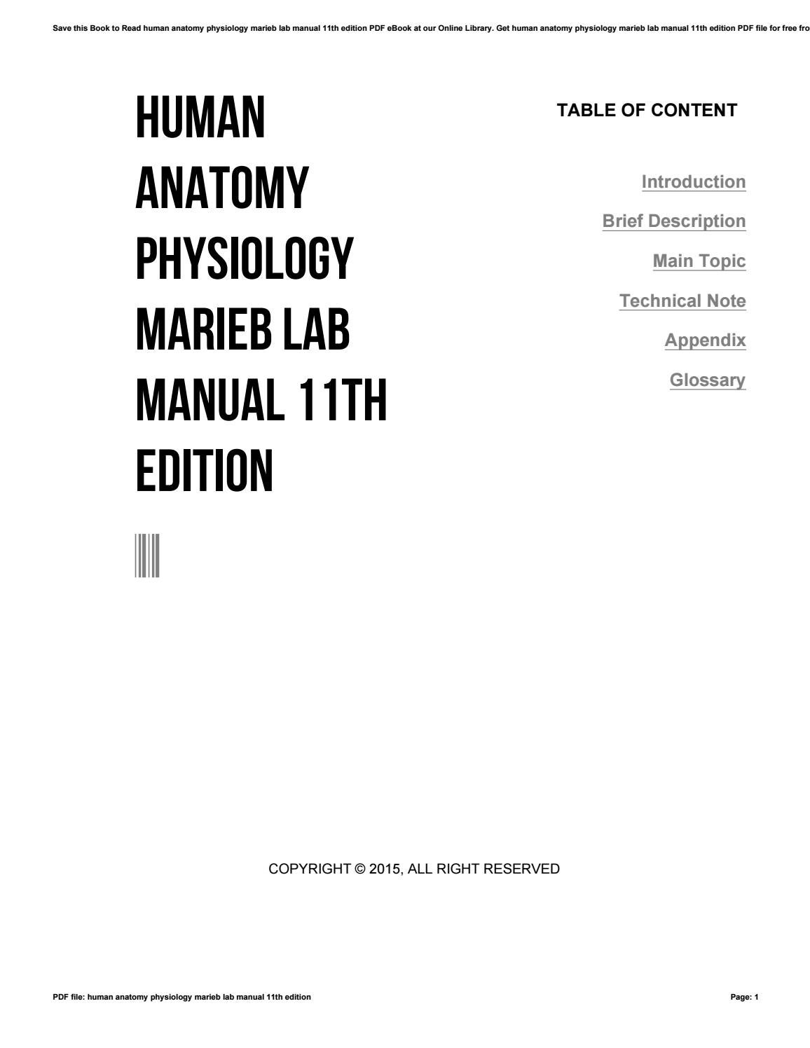 Human anatomy physiology marieb lab manual 11th edition by i858 - issuu