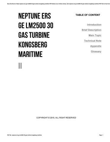 neptune ers ge lm2500 30 gas turbine kongsberg maritime by harvard rh issuu com LM2500 Drawings LM2500 Exploded-View