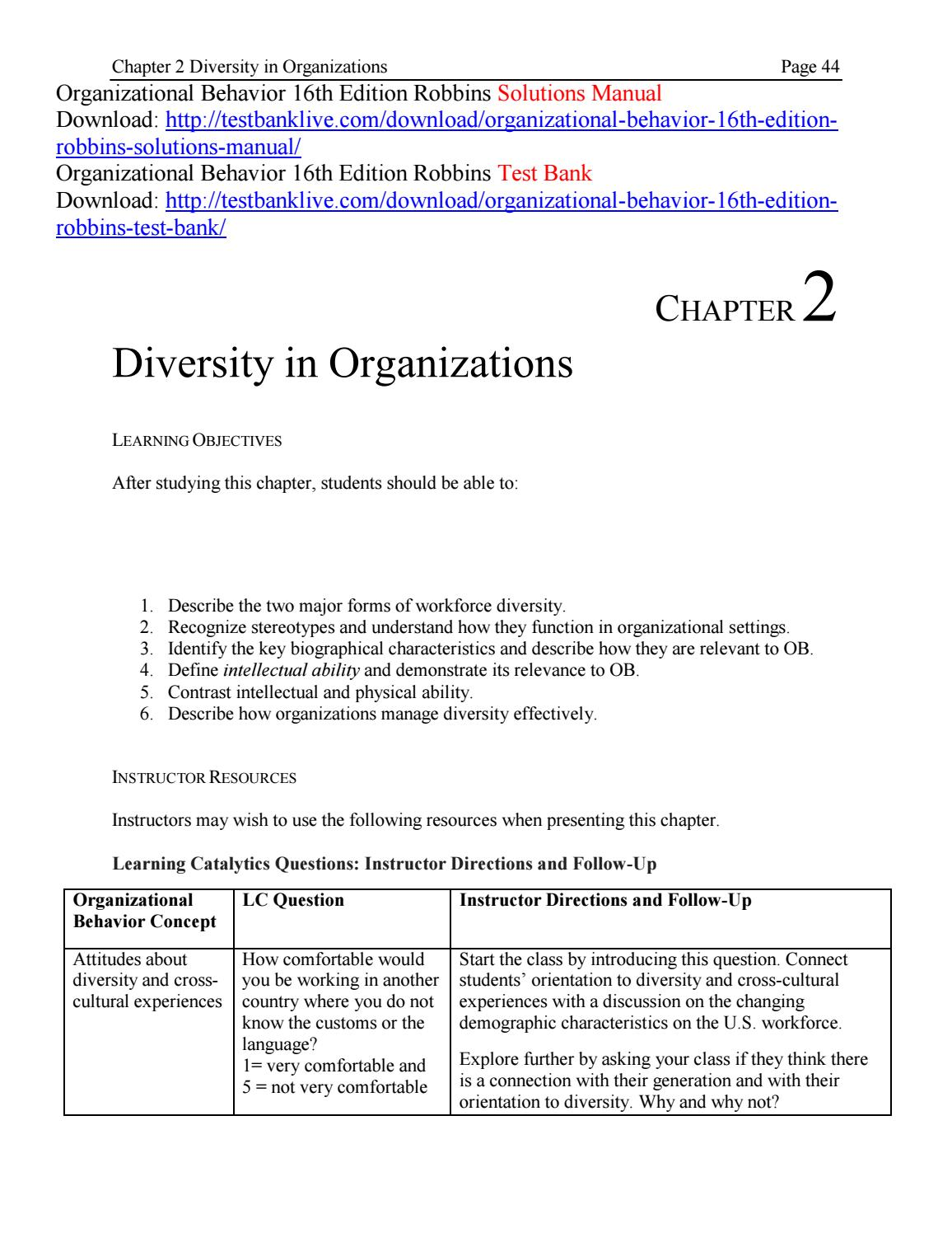 Chapter 5 instructor manual array organizational behavior 16th edition robbins solutions manual by rh issuu com fandeluxe Images