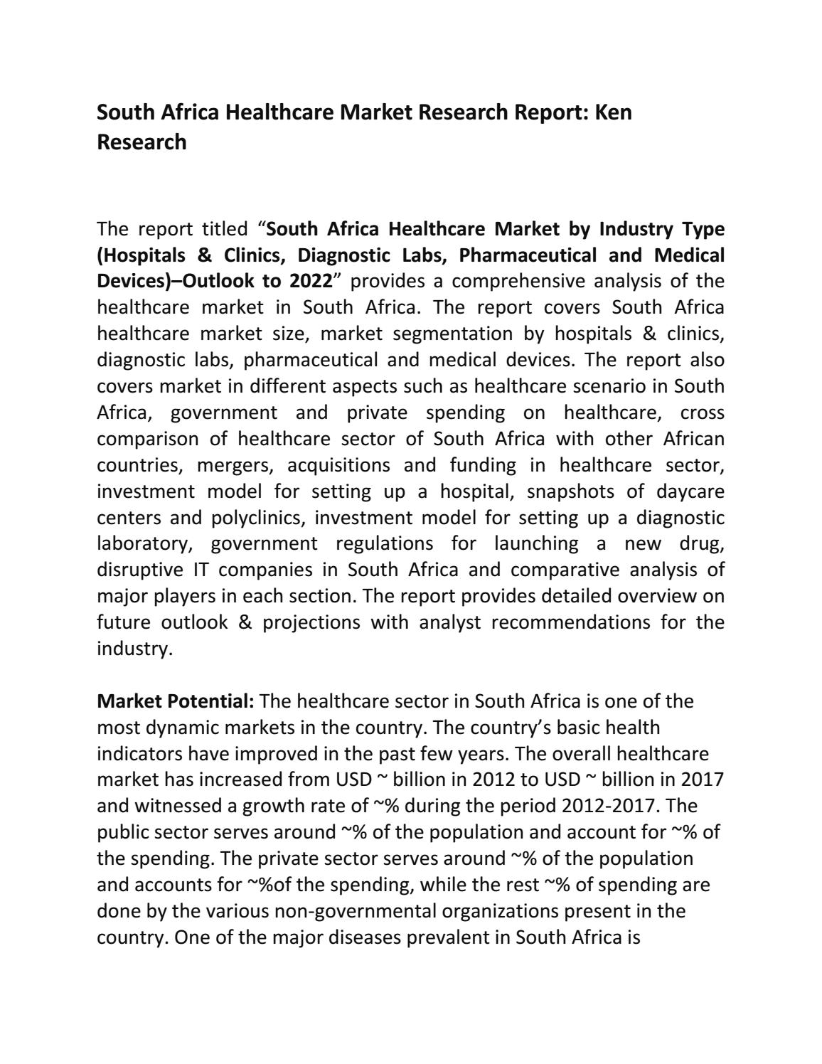 South Africa Healthcare Market Research Report: Ken Research