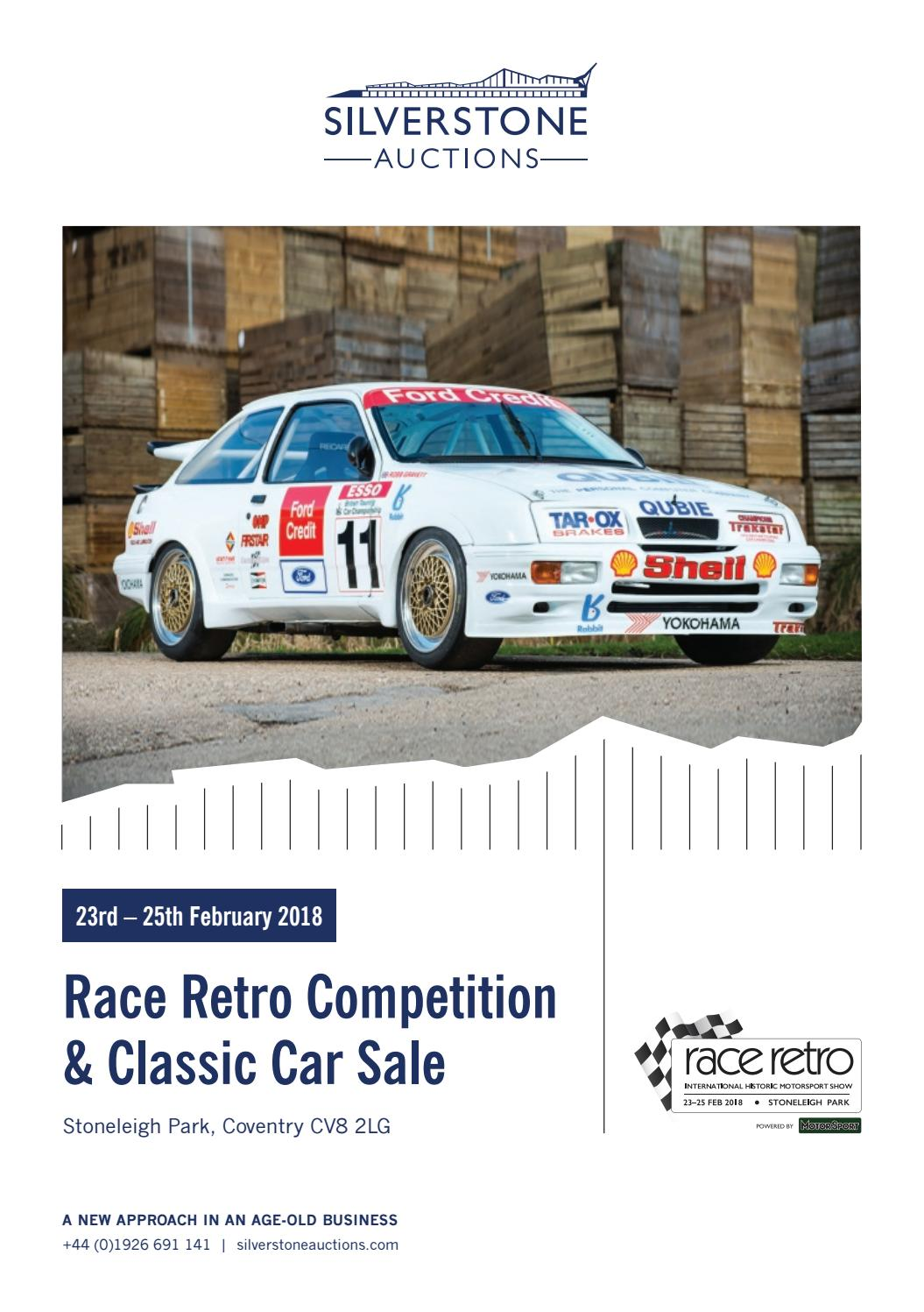 Old Car For Sale >> Silverstone Auctions Race Retro Competition Classic Car