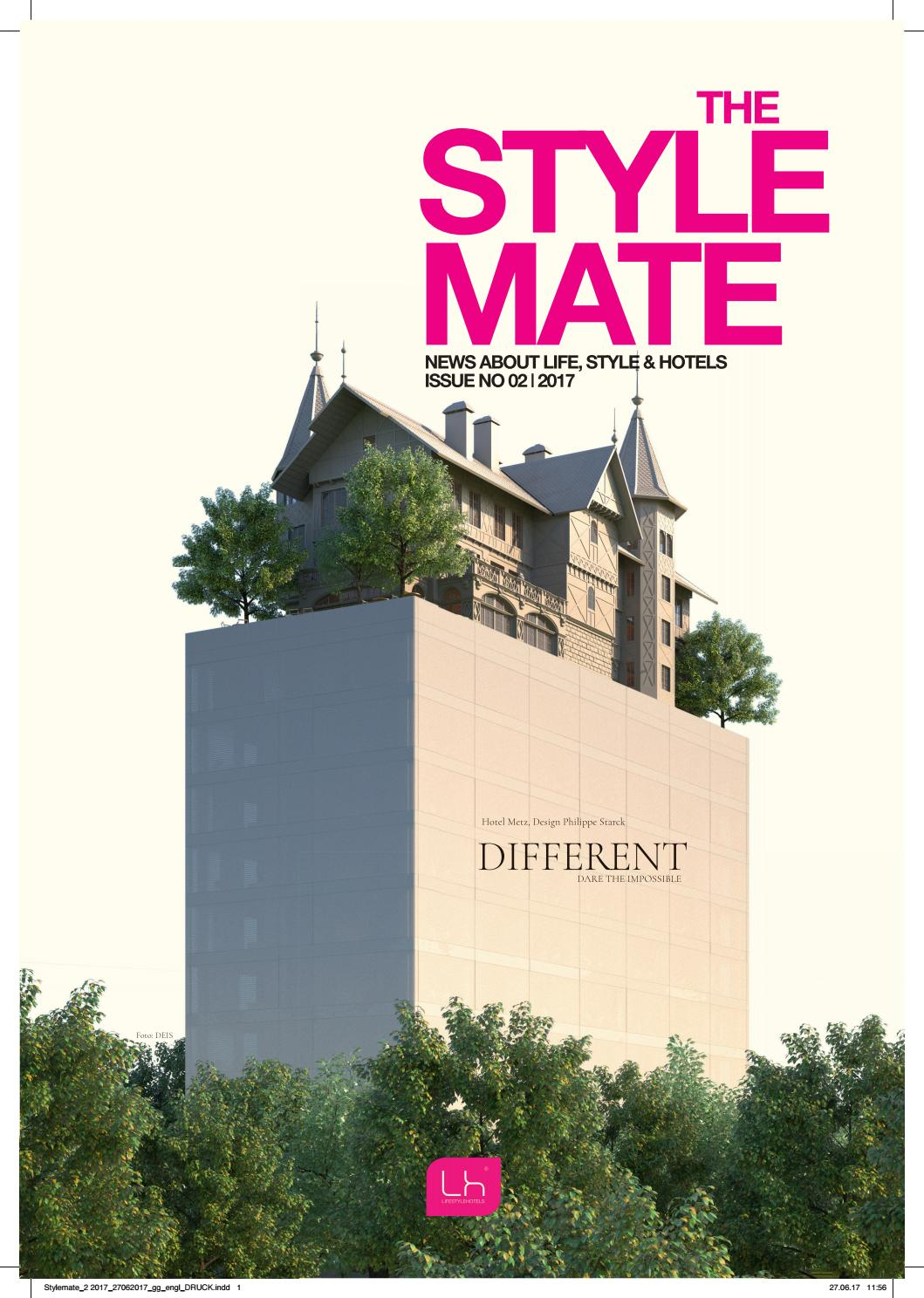 LIFESTYLEHOTELS Magazin  THE STYLEMATE, Issue No 02/2017, Different, en