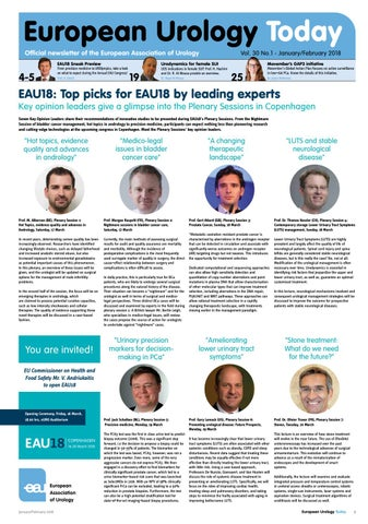European Urology Today January/February 2018 by European