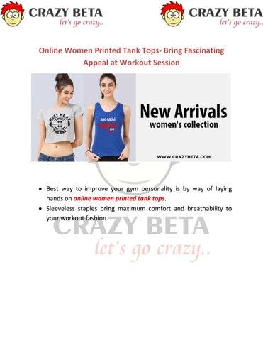 Online Women Printed Tank Tops- Bring Fascinating Appeal at