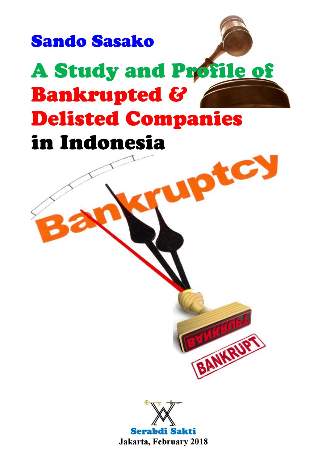 Profile Of Delisted Companies In Indonesia With Listing