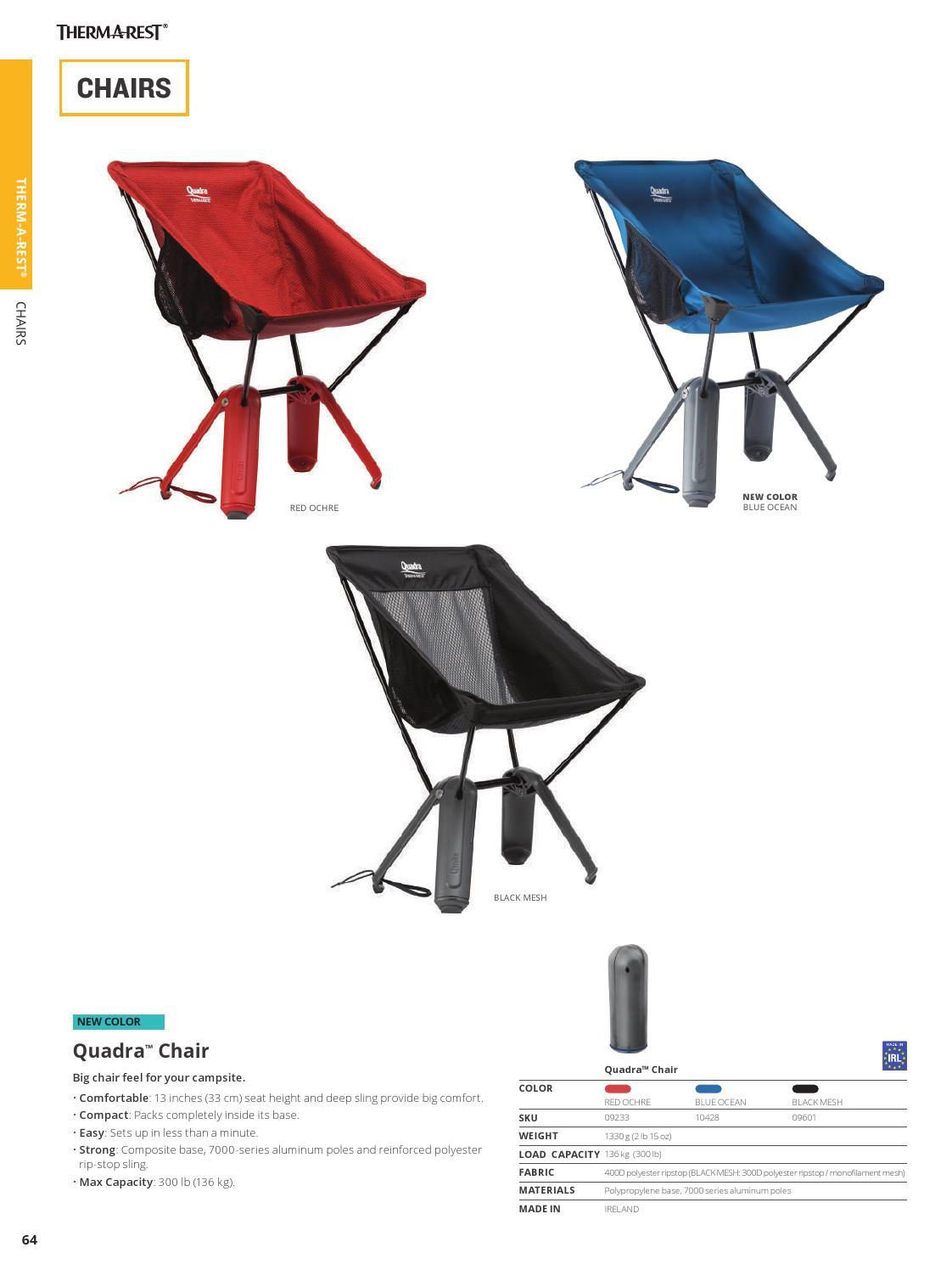 Therm-a-Rest Quadra Chair in Blue Ocean