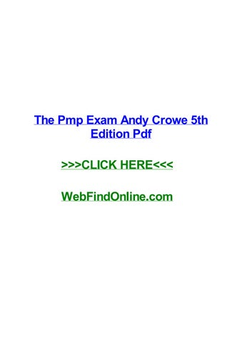 Andy Crowe Pmp 5th Edition Pdf