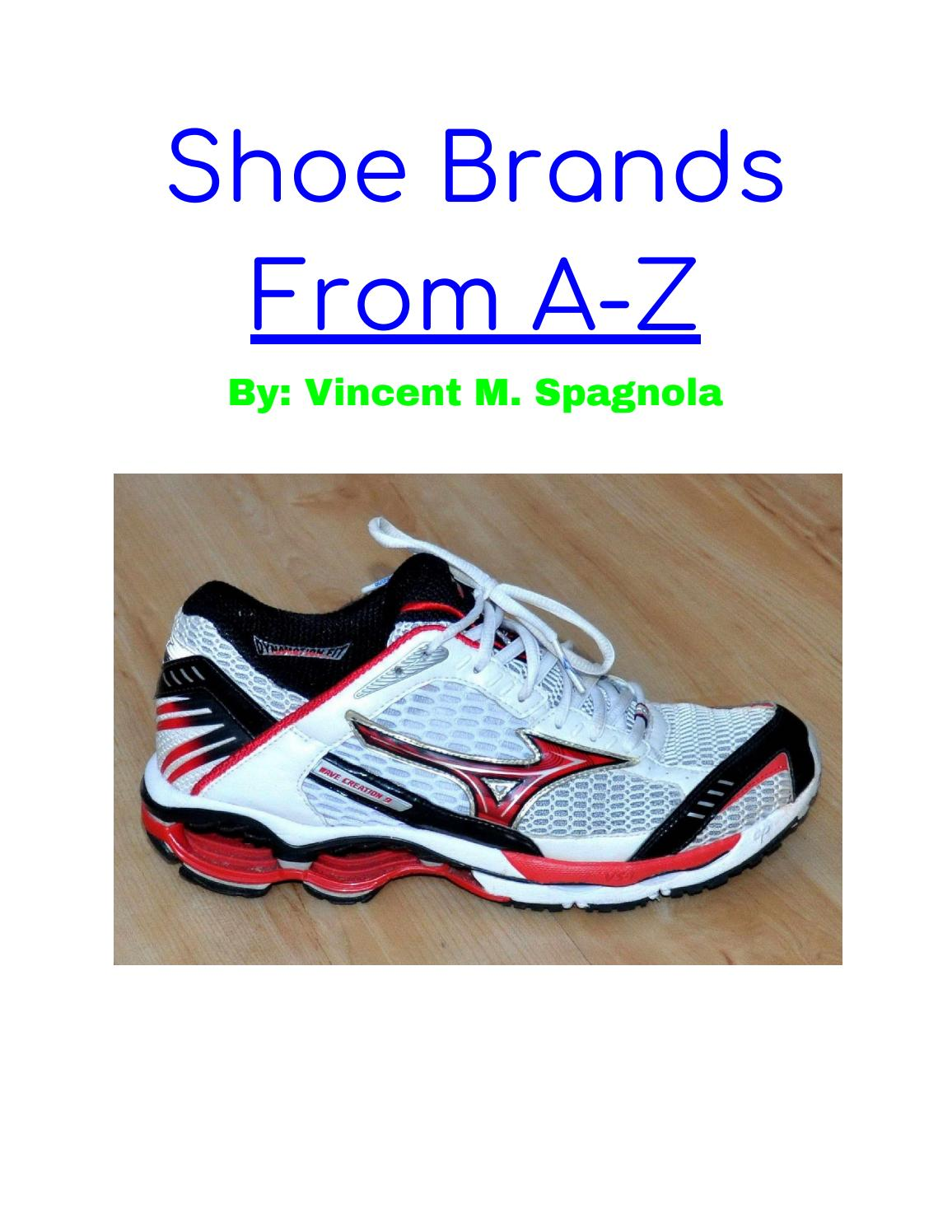Shoe Brands From A-Z by Vincent