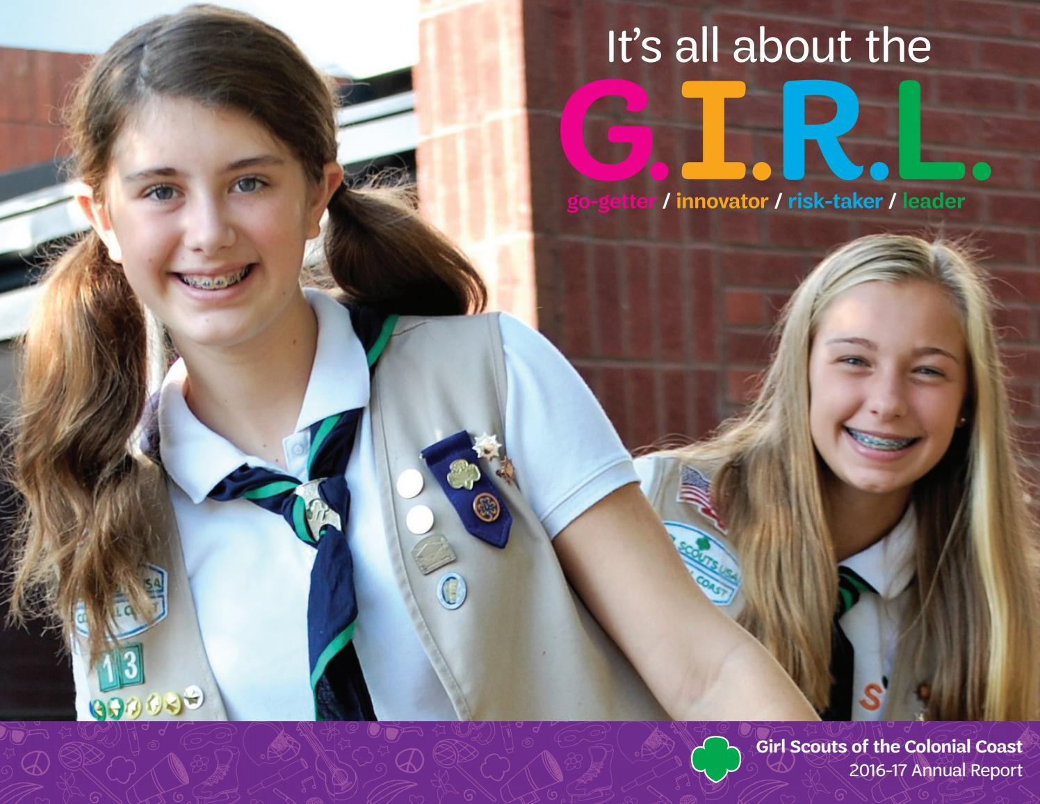 2016 17 annual report website by Girl Scouts of the Colonial