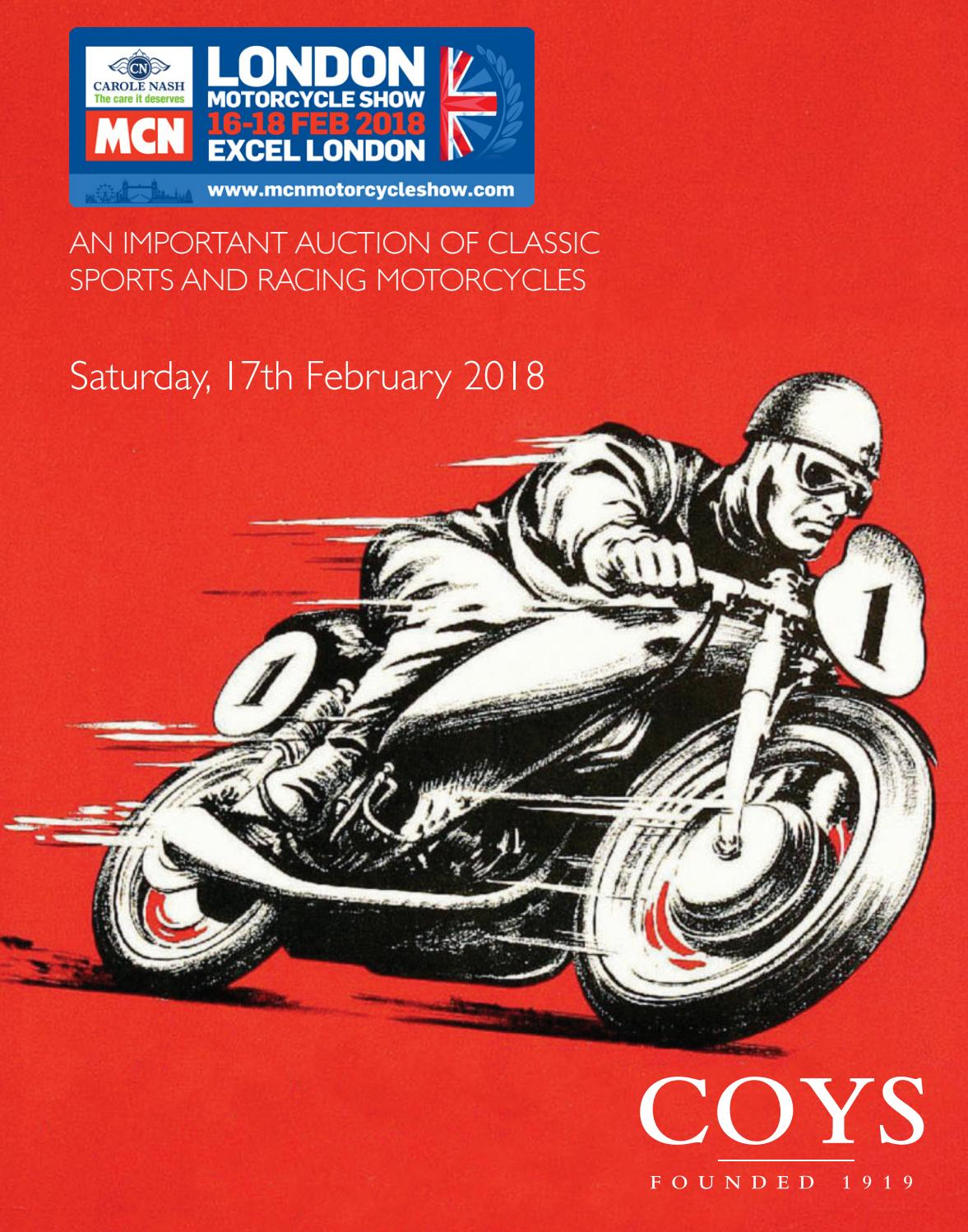 The Carole Nash Mcn London Motorcycle Show 2018 By Coys Issuu