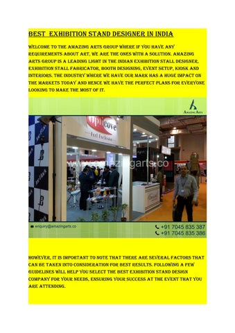 Exhibition Stand Guidelines : Best exhibition stand designer in india by amazing arts group issuu