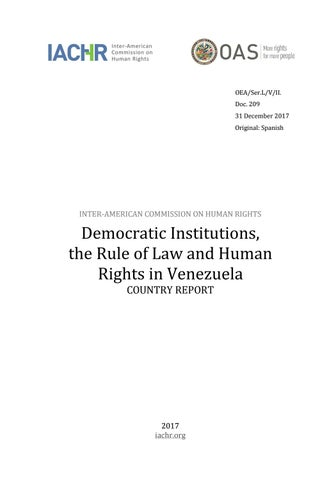 IACHR OAS County Report  Venezuela 2018 Human Rights Situation by ... c3f0bea0e46a
