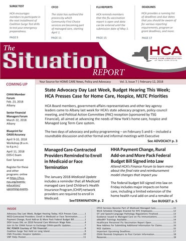 Feb   Edition Of The Situation Report By Home Care