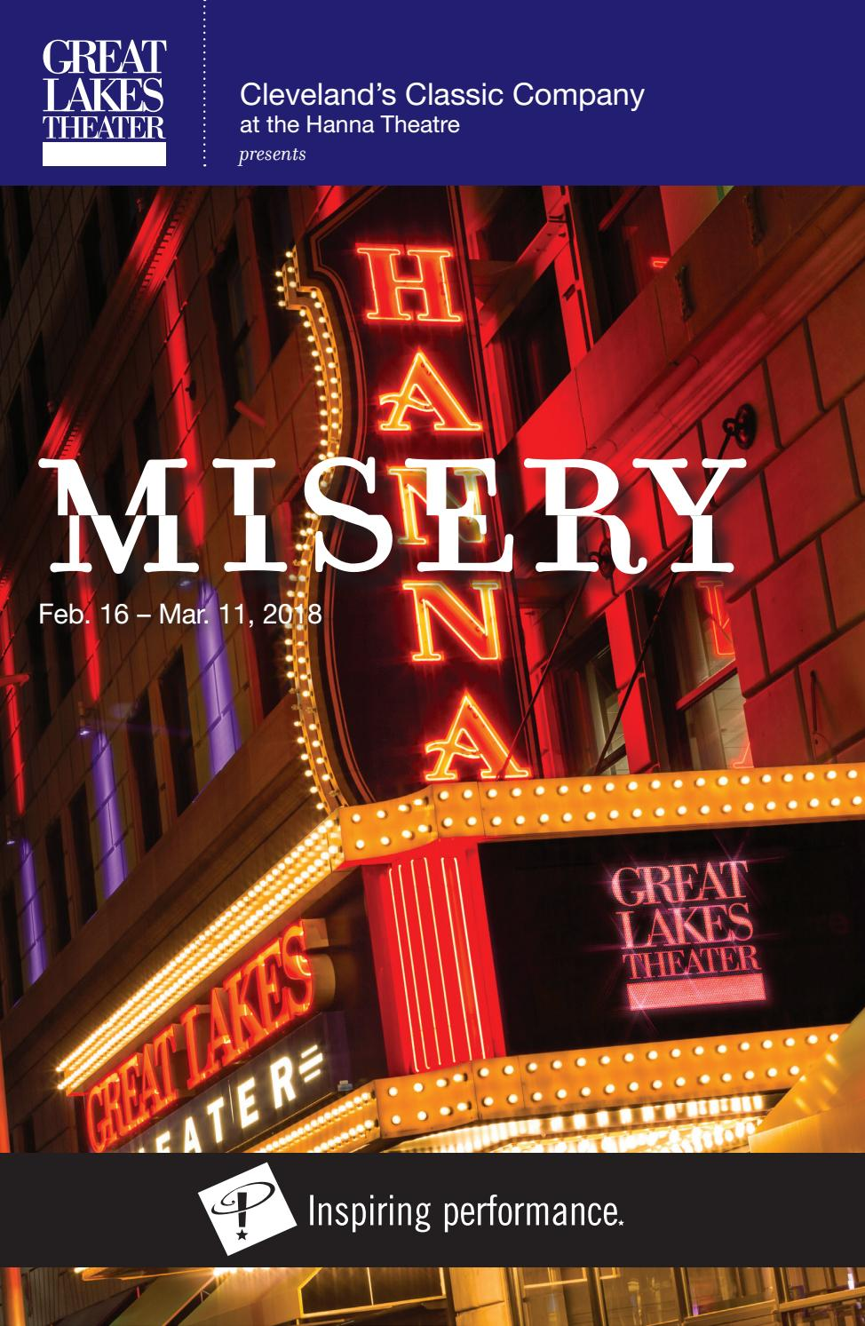 ea415963a MISERY Playbill - Winter 2018 by Great Lakes Theater - issuu