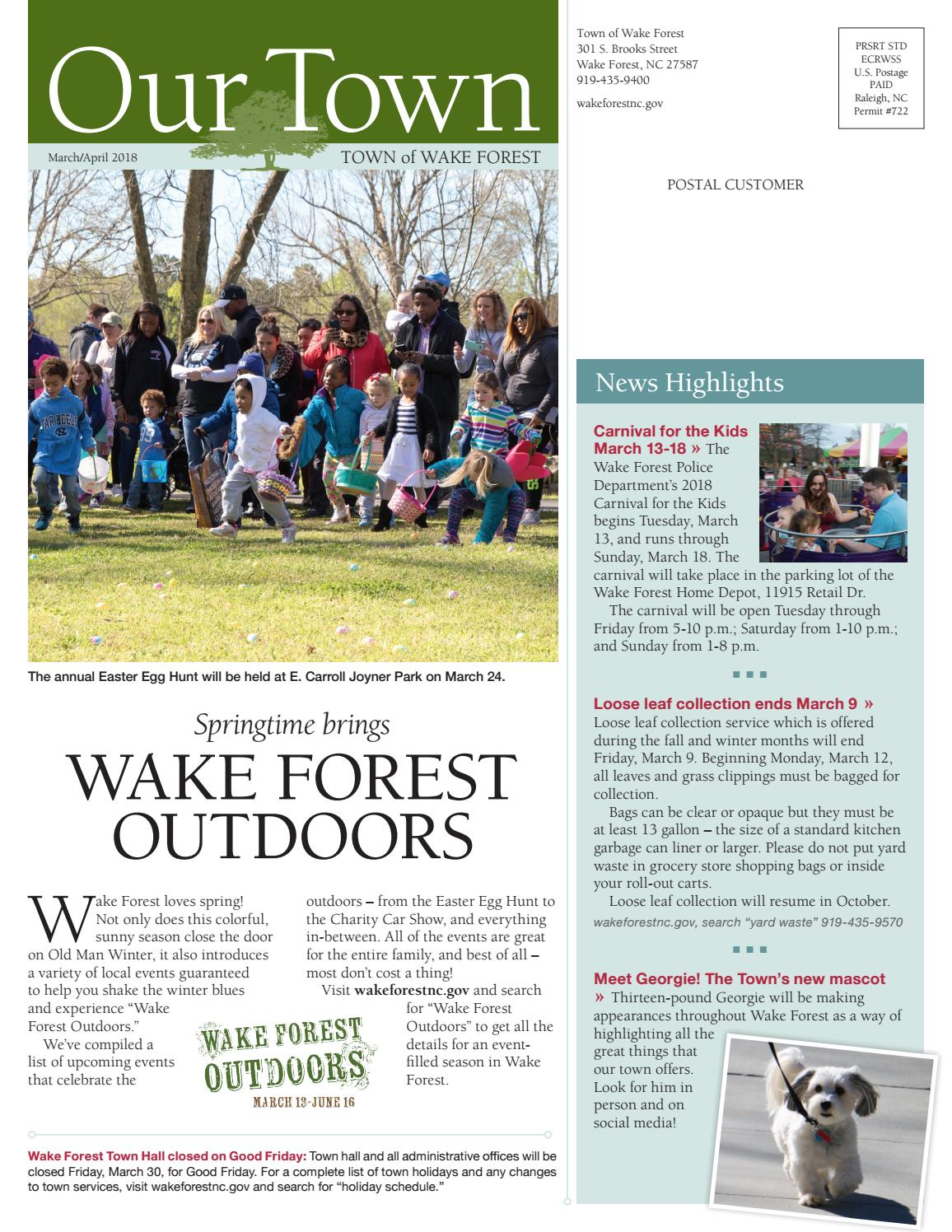 Our Town March April 2018 By Town Of Wake Forest Issuu