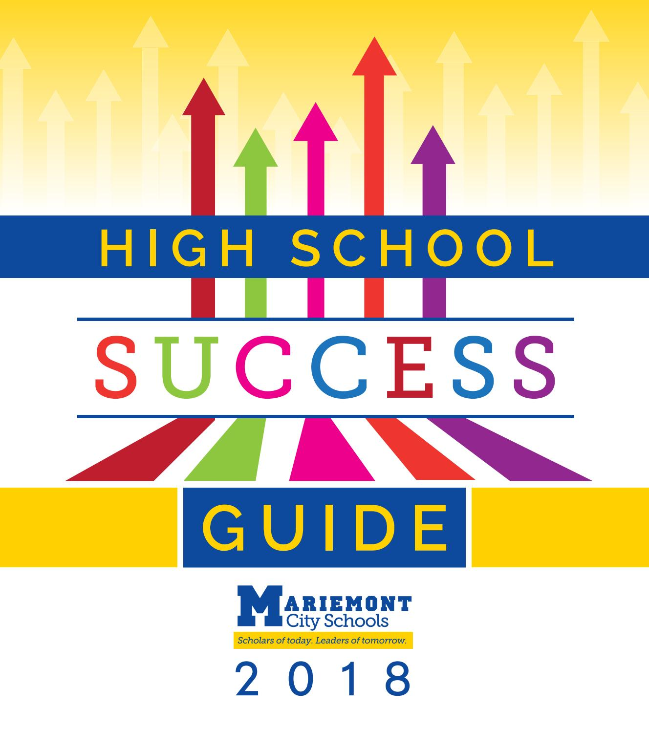 2018 19 High School Success Guide by Mariemont City School District