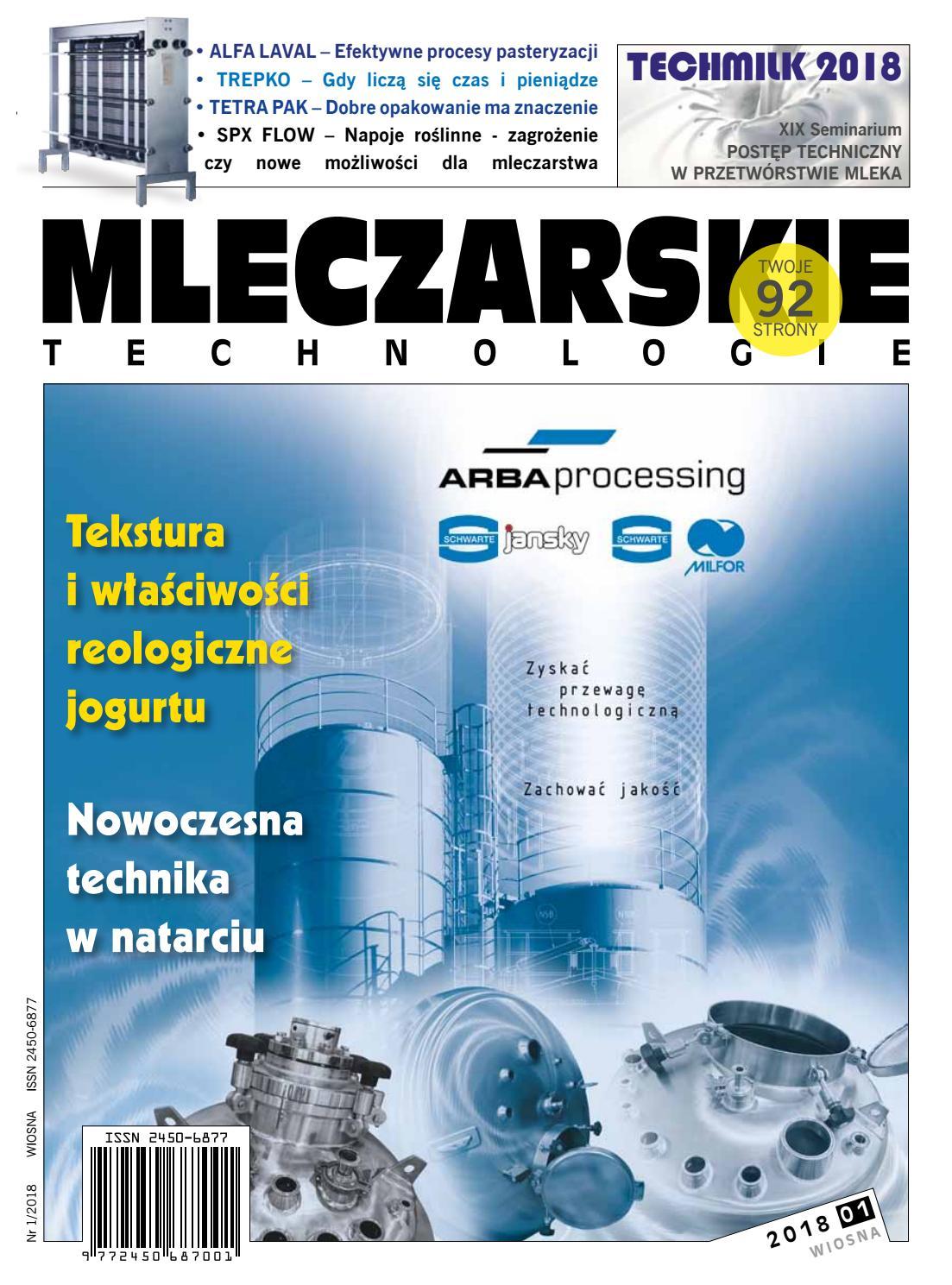 a303ed2ad6223 Mleczarskie technologie 2018 (I) by Womat - media czasopisma dla  specjalistów - issuu