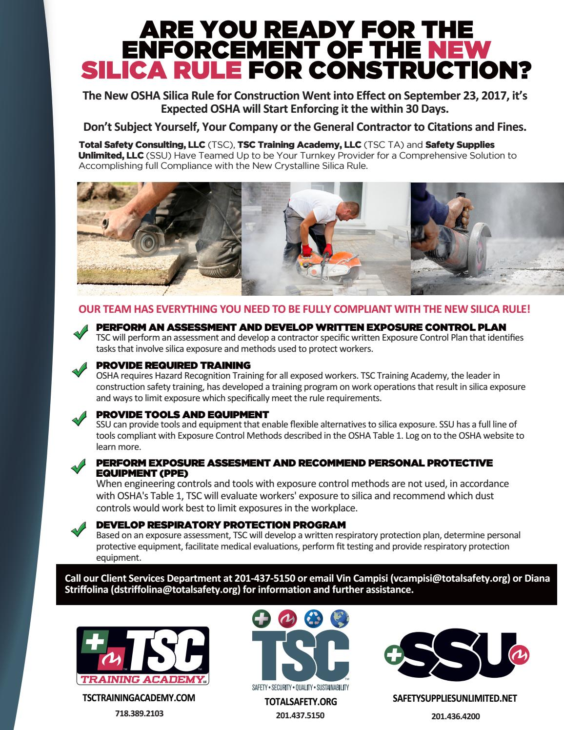 OSHA Silica Rule by Total Safety Consulting (TSC) - issuu