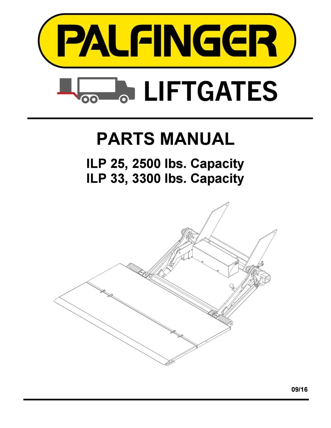 Palfinger Ilp Liftgate Parts Manual By The Liftgate Parts Co