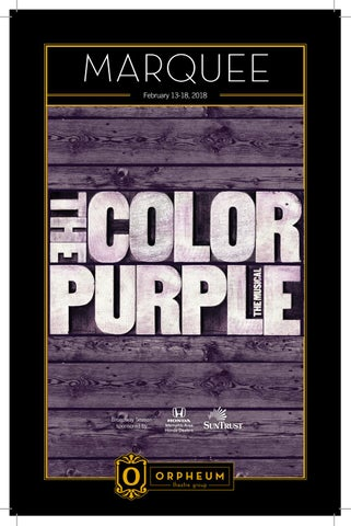 The Color Purple by Orpheum Theatre - issuu