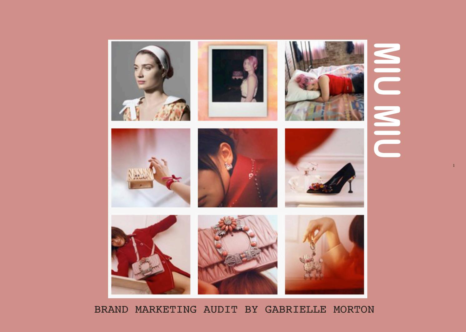 45b3b61d3093 MIU MIU Marketing Report by GabrielleMorton - issuu