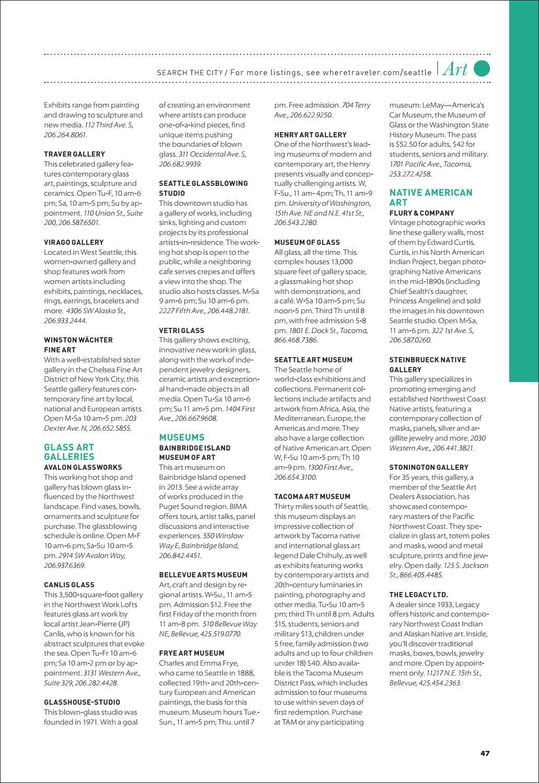 Where Magazine Seattle Mar 2018 by Morris Media Network - issuu