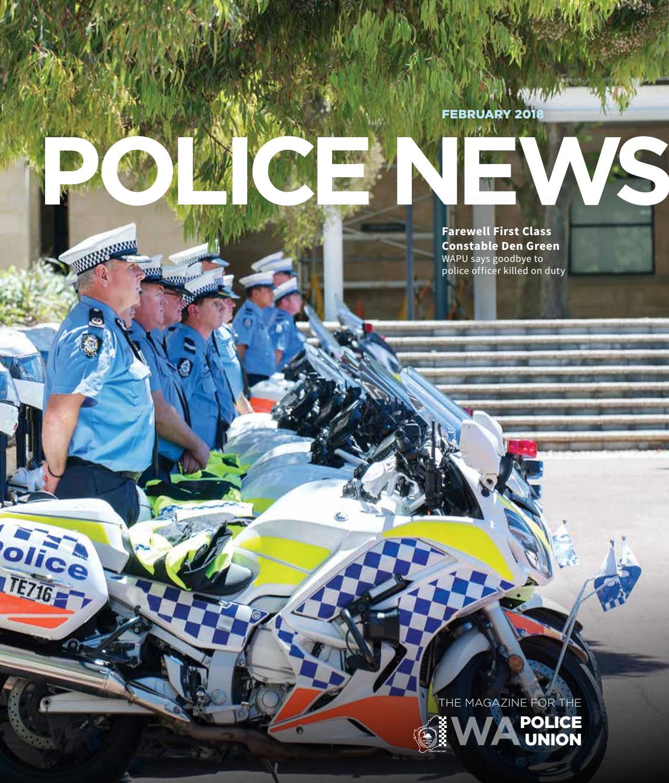 Wapu Police News February 2018 By Wa Union Issuu Helm Glossy Racing Spirit White Blue