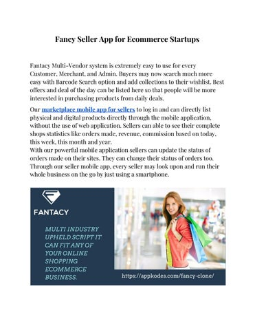 Fancy seller app for ecommerce startups by Appkodes - issuu