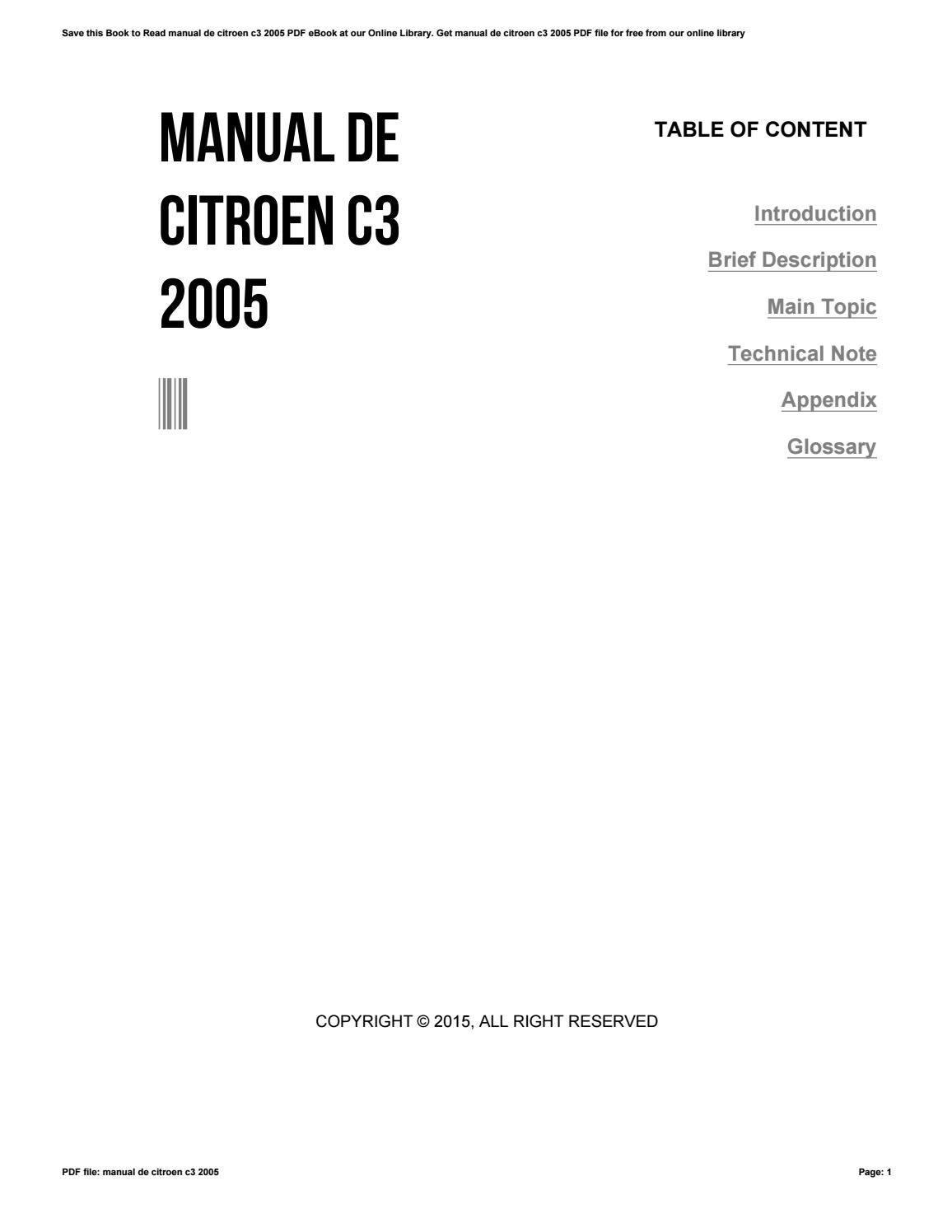 manual citroen c3 pdf espanol