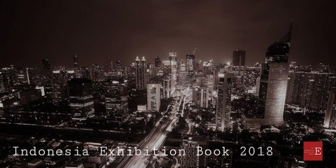 Page 1 of Indonesia Exhibition Book 2018, 1st ed.
