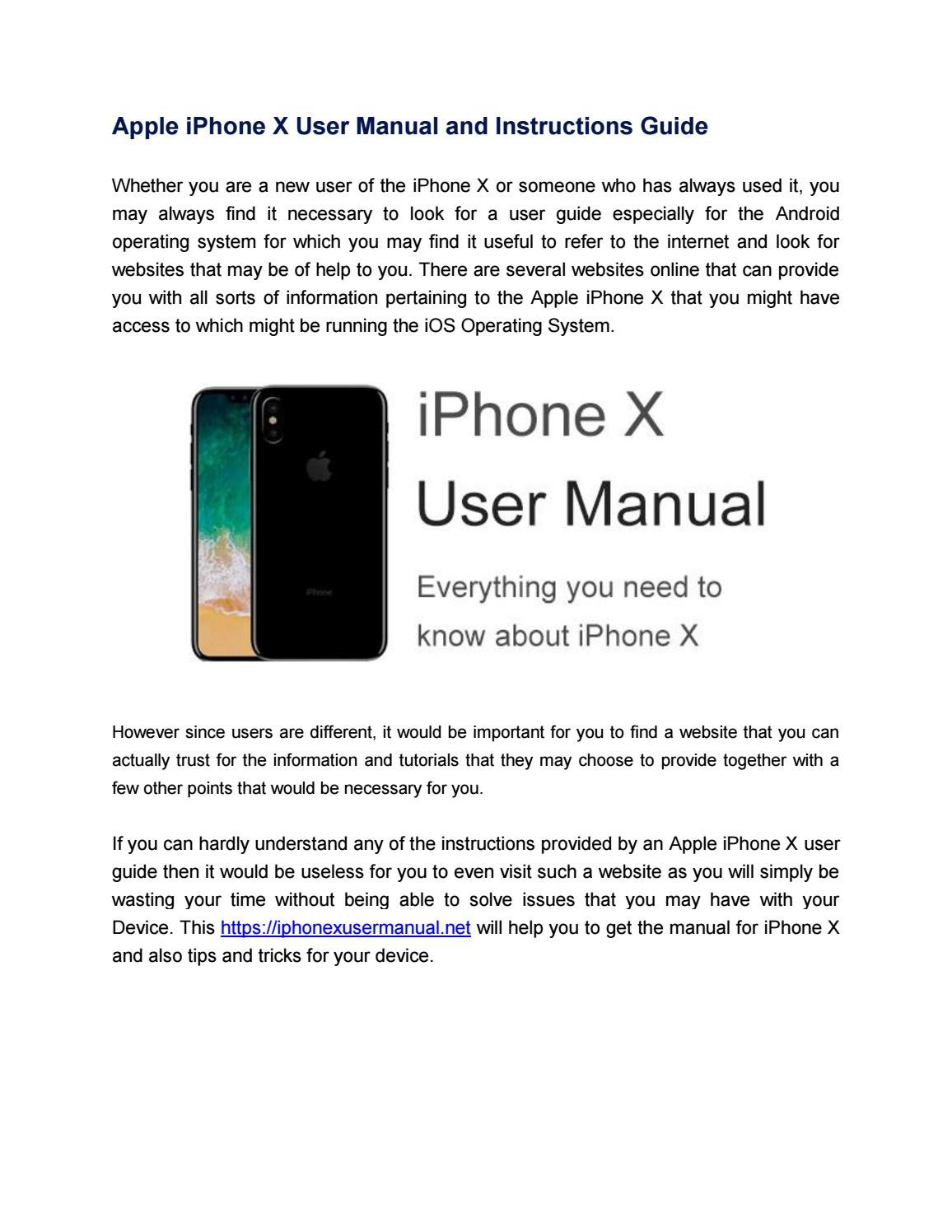 Apple Iphone X Rumors And News Manual Guide