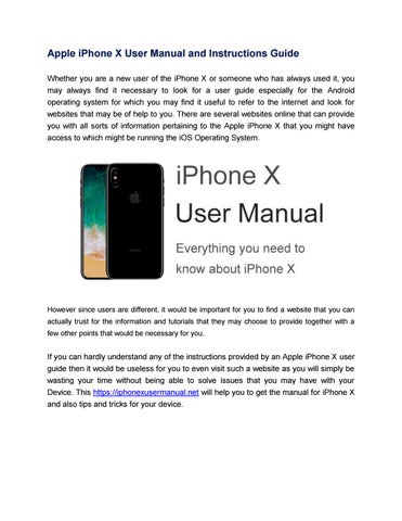 apple iphone x user manual online by manualdevice issuu rh issuu com iphone product information guide iphone 4 information guide