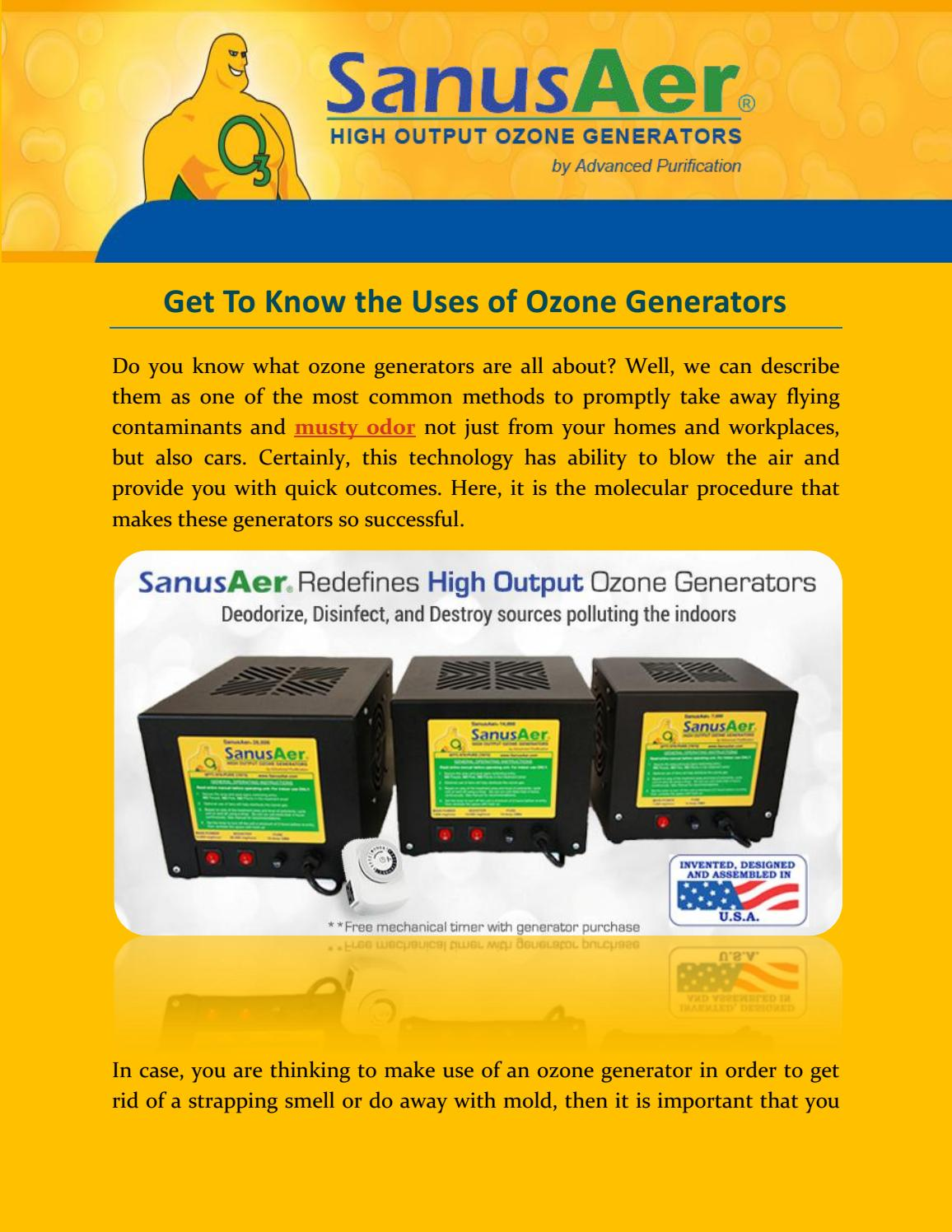 Get To Know the Uses of Ozone Generators by JessicaBeak - issuu