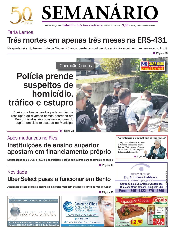 Jornal Semanário - 10 de fevereiro de 2018 - Ano 51 - Nº 3410 by Jornal  Semanário - Bento Gonçalves - RS - issuu 5ff9fdfdc9