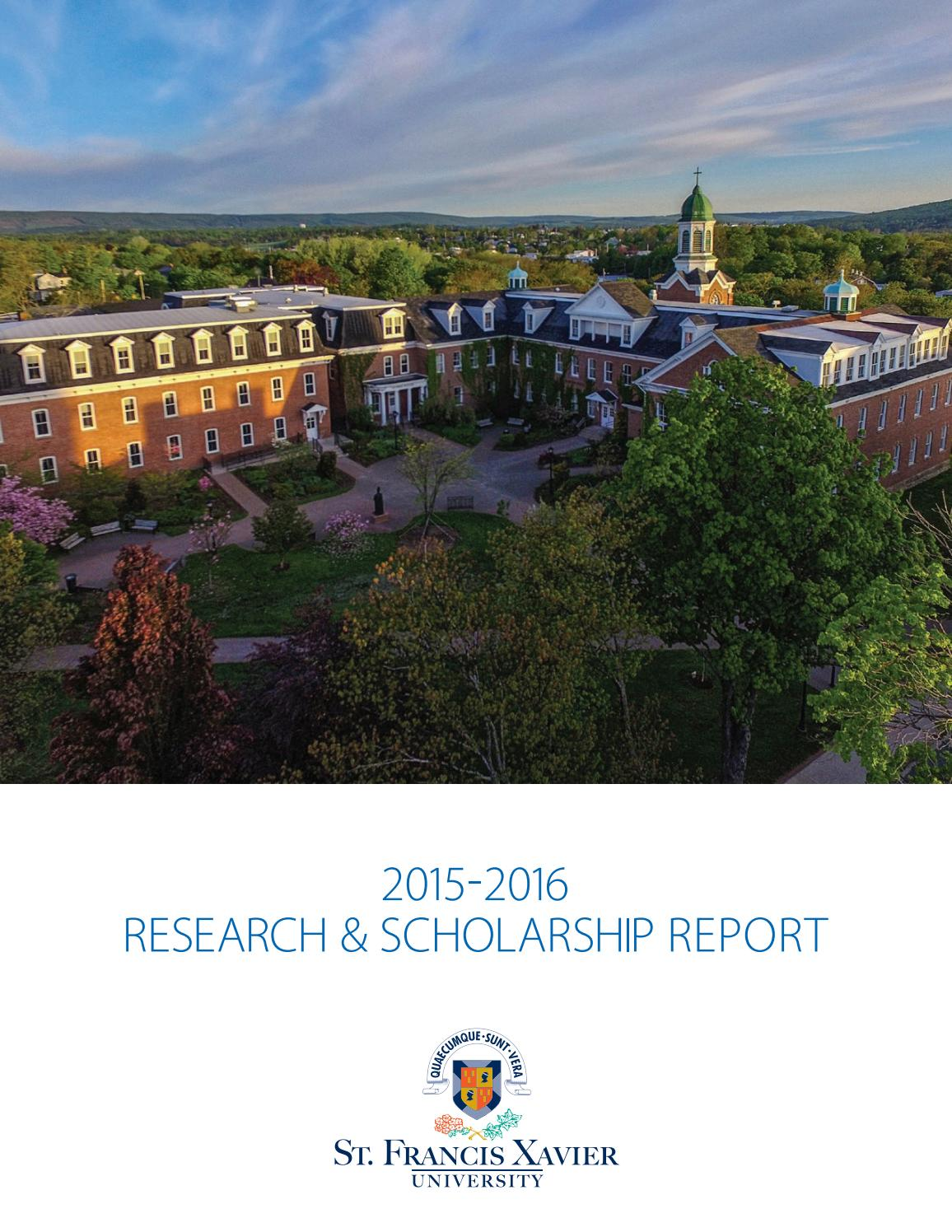 01a7974b16f1e 2015-2016 Research   Scholarship Report by Stfx University - issuu