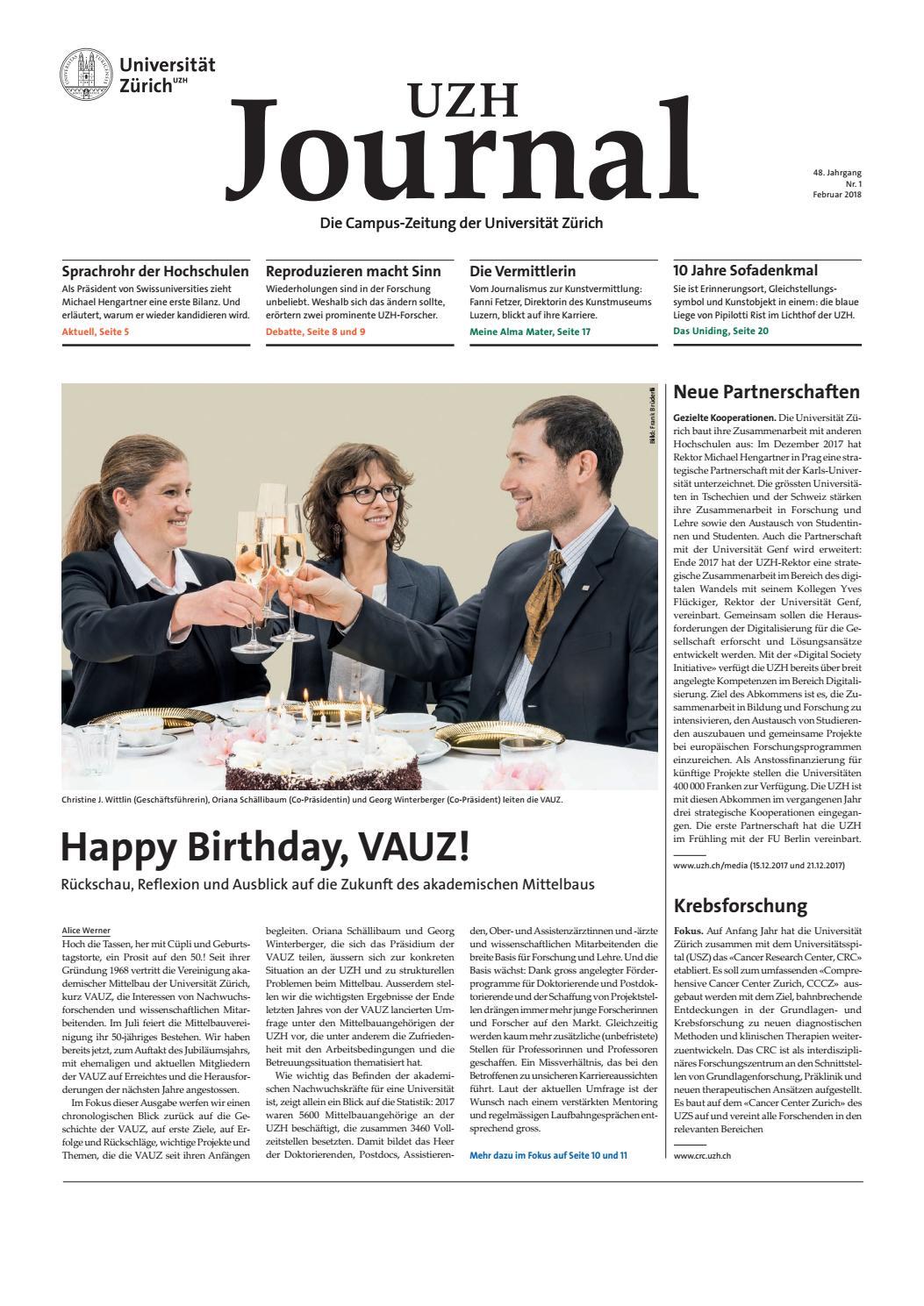 UZH Journal 1/18 by University of Zurich - issuu
