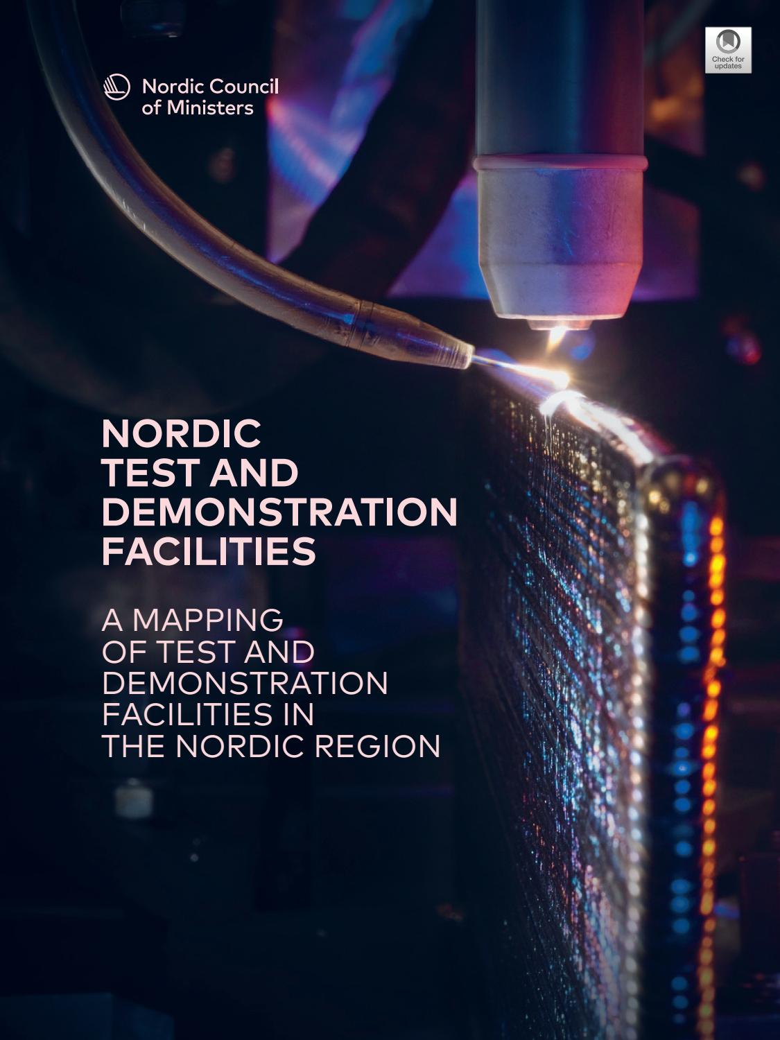 Nordic Test And Demonstration Facilities A Mapping Of Test
