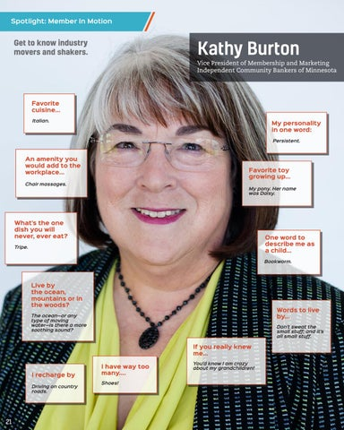 Page 22 of Kathy Burton, Independent Community Bankers - MN