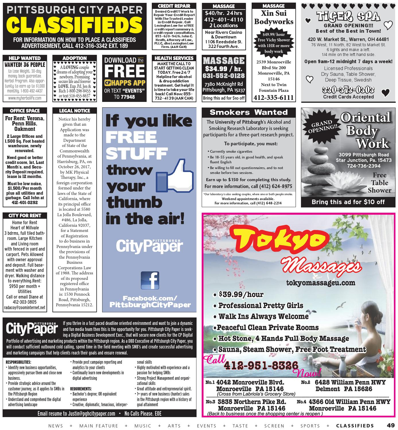 Pittsburgh city paper classifieds