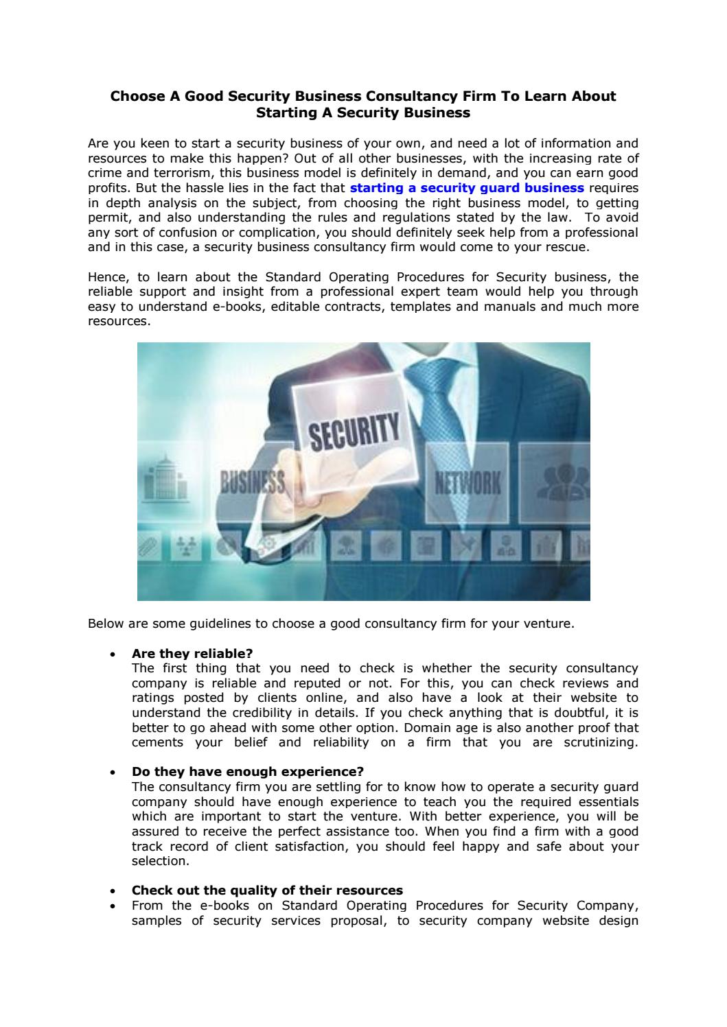 private investigation contract template by security services proposal issuu