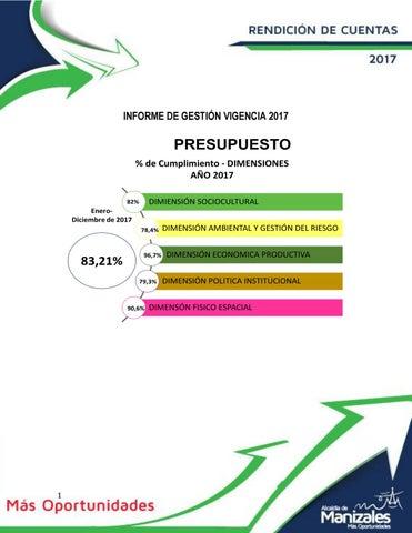 9316f5f4d5c7b Informe de Gestión 2017 by Alcaldía Manizales - issuu