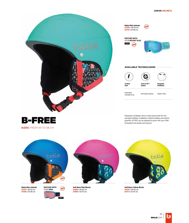 49-53 cm Mint Animals boll/é Kids B-Free Helmets