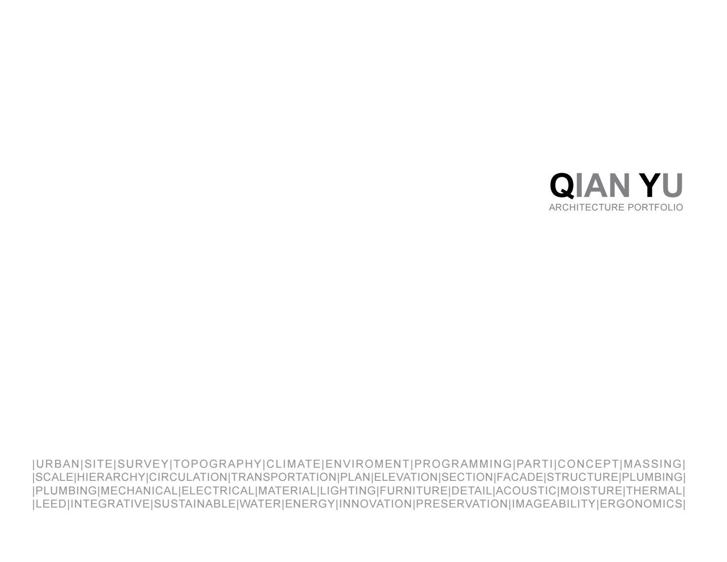 Qian Yu Architectural Portfolio by Qian Yu - issuu