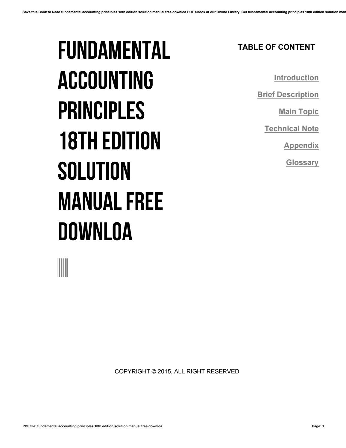 Fundamental accounting principles 18th edition solution manual free downloa  by rblx91 - issuu