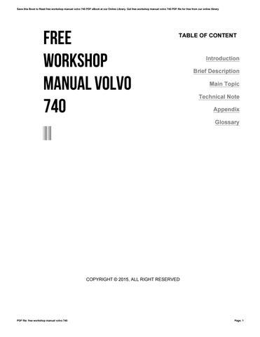 Volvo 740 760 1987 sch service manual download, schematics, eeprom.